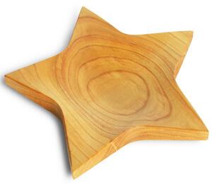 Prato de Madeira em Forma de Estrela