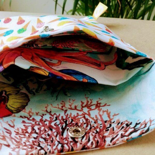 bolsa de algodão para pensos reutilizáveis
