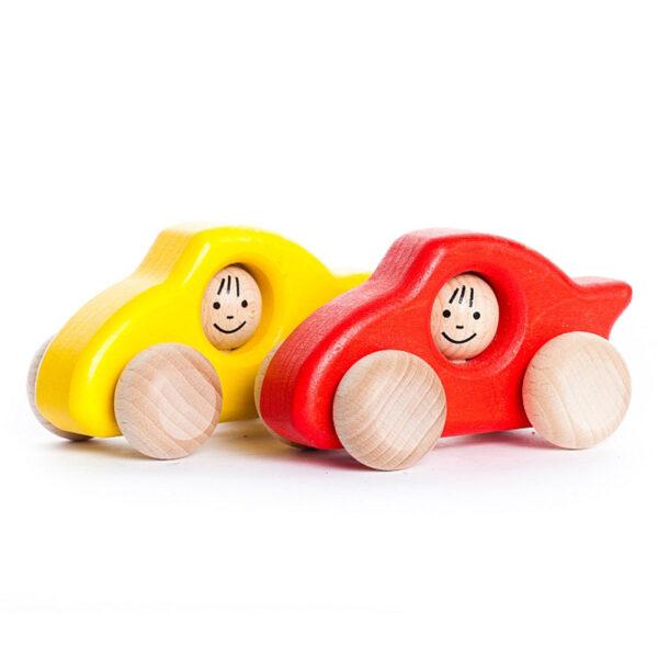 carrinho de brincar de madeira