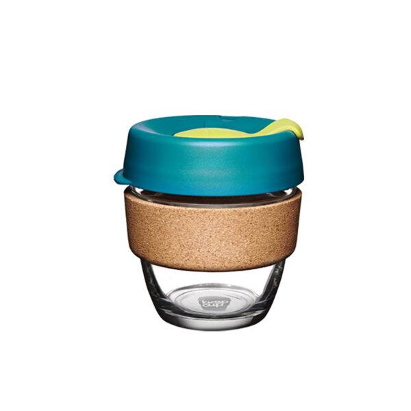 copo reutilizavel keepcul com cortiça e tampa colorida