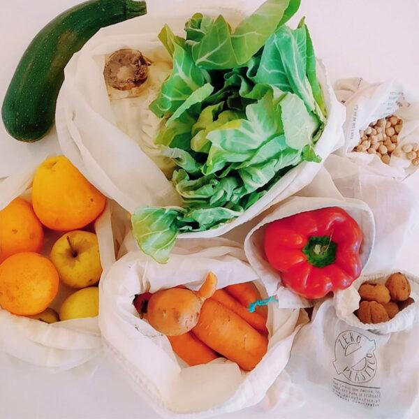 saco de algodão para frutas e legumes