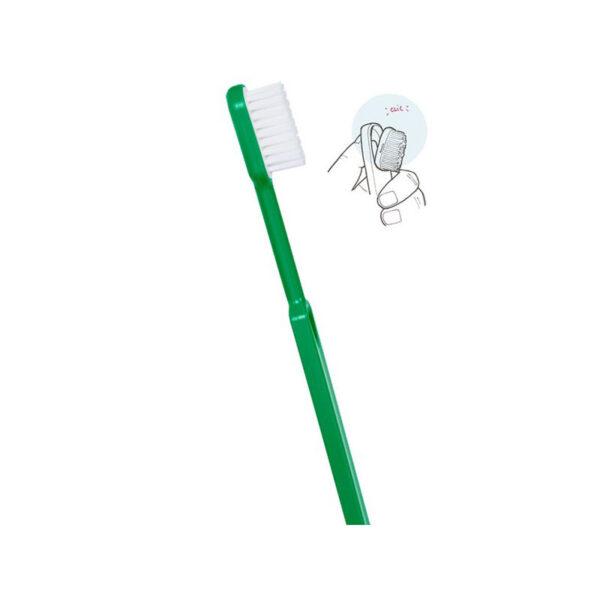 escova de dentes em bioplástico com cabeça removivel